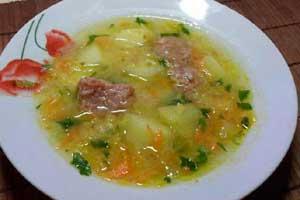 Гороховый суп с тушенкой
