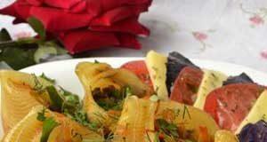 Макароны с начинкой из шампиньонов