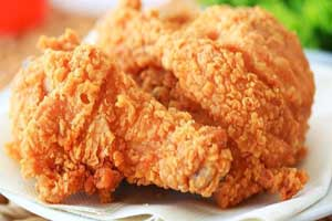 Жареная курица с хрустящей корочкой