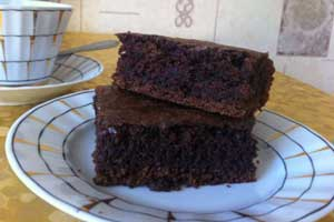 Постный пирог Брауни
