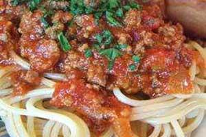 Мясной томатный соус для спагетти