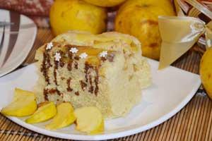 Яблочный пирог в микроволновке за 5 минут