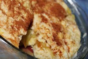 Яблочный пирог в СВЧ