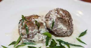 Биточки с грибами в сметанном соусе
